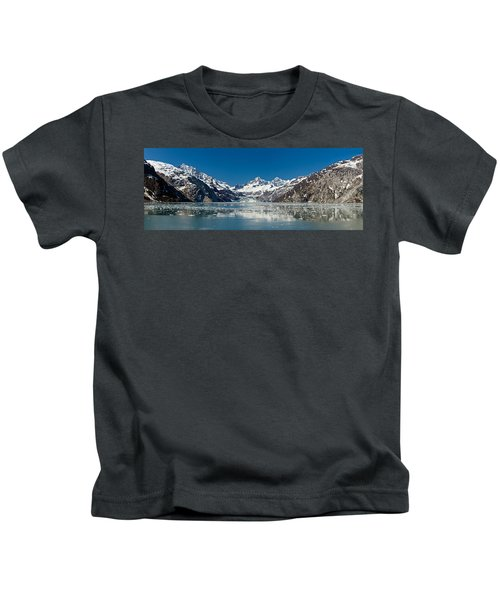 Johns Hopkins Glacier In Glacier Bay Kids T-Shirt