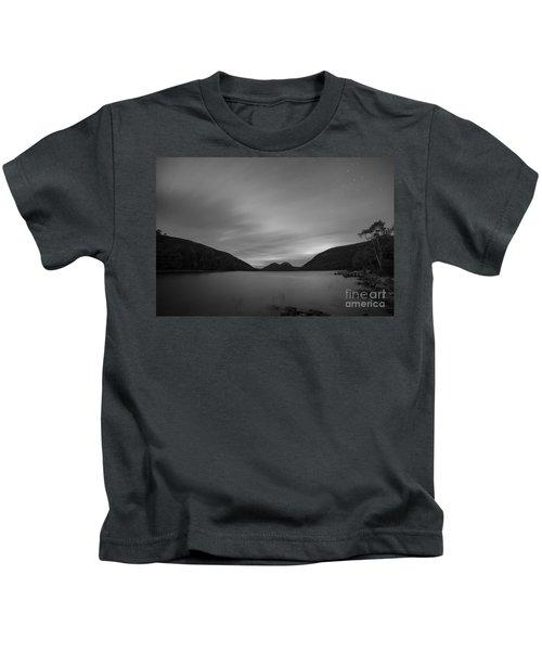 Jordan Pond Blue Hour Bw Kids T-Shirt