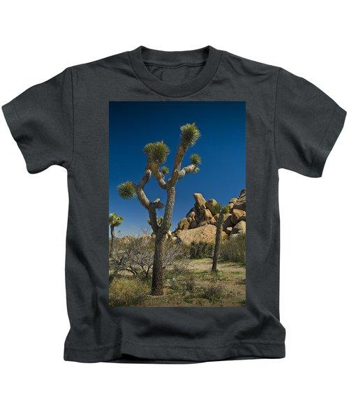 California Joshua Trees In Joshua Tree National Park By The Mojave Desert Kids T-Shirt
