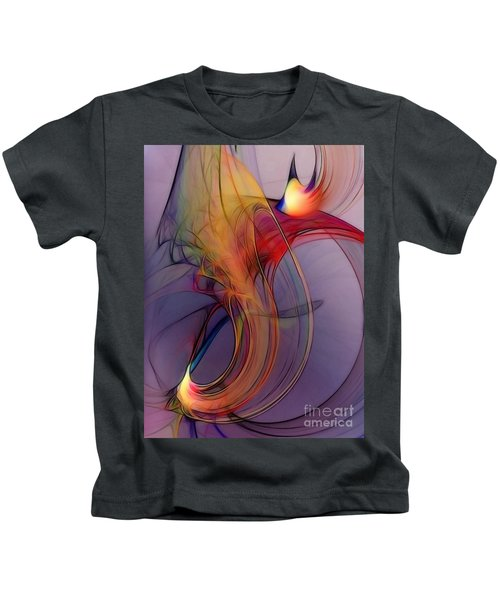 Joyful Leap-abstract Art Kids T-Shirt