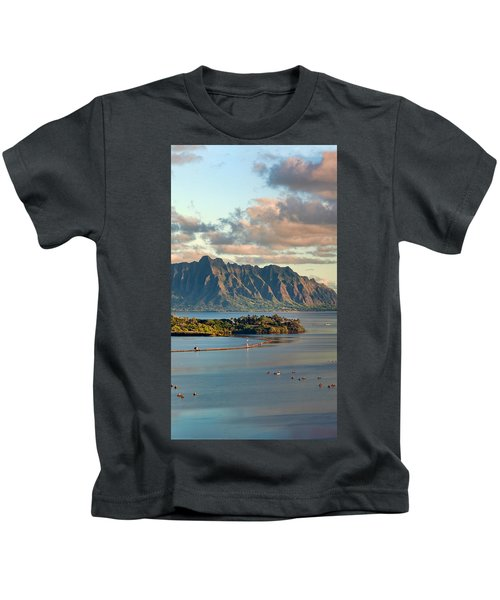 Kaneohe Bay Panorama Mural 2 Of 5 Kids T-Shirt