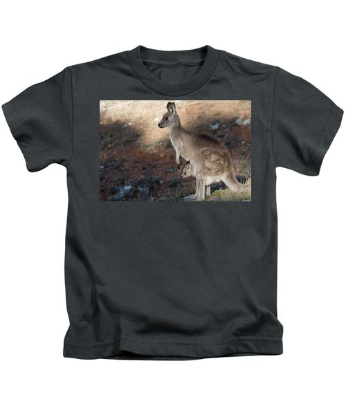 Kangaroo And Joey Kids T-Shirt