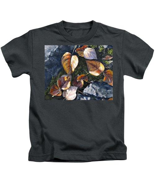 Knik River Autumn Leaves Kids T-Shirt