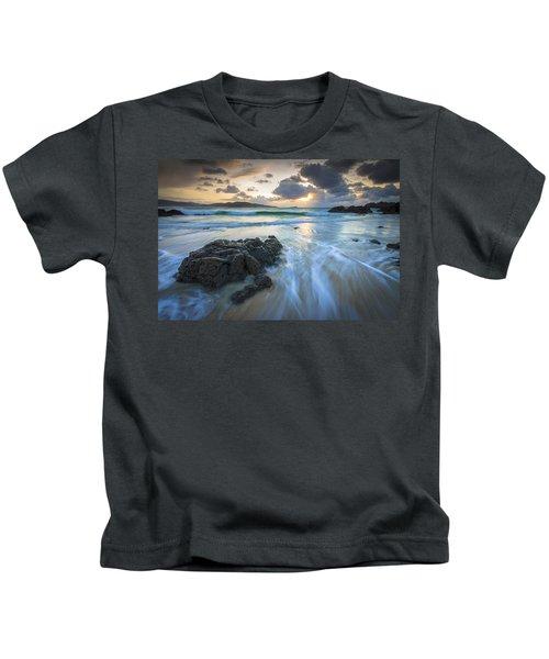 La Fragata Beach Galicia Spain Kids T-Shirt