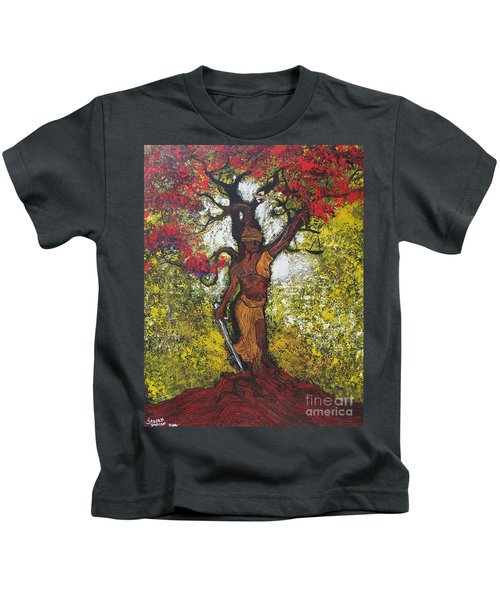 Lady Of Justice Kids T-Shirt