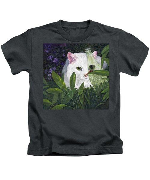 Ladybugs And Cat Kids T-Shirt