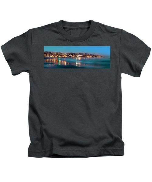 Laguna Beach Twilight Reflections Kids T-Shirt