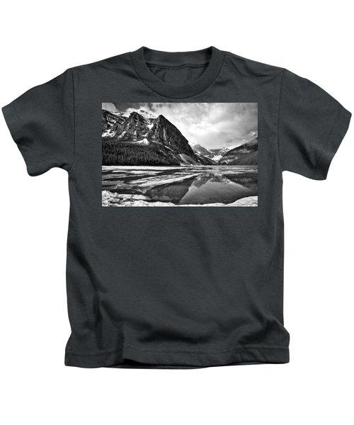 Lake Louise - Black And White #3 Kids T-Shirt