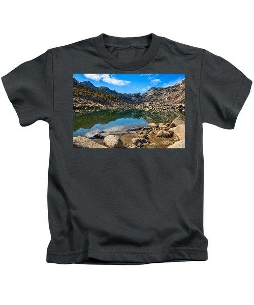 Lake Sabrina In Bishop Creek Canyon. Kids T-Shirt