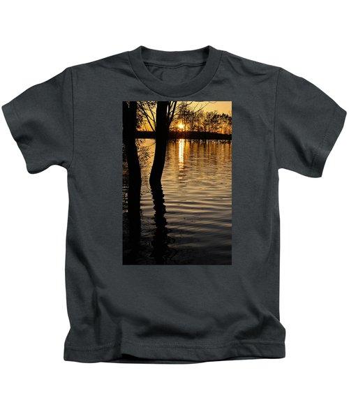 Lake Silhouettes Kids T-Shirt