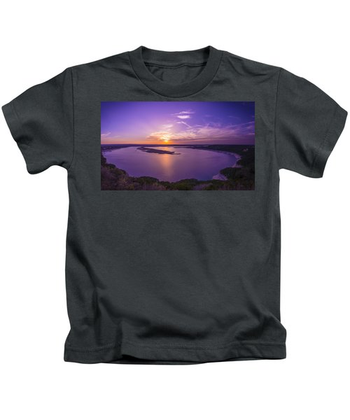 Lake Travis Sunset Kids T-Shirt