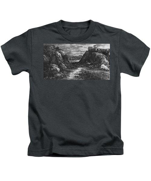 Landscape Behind The Defile Kids T-Shirt