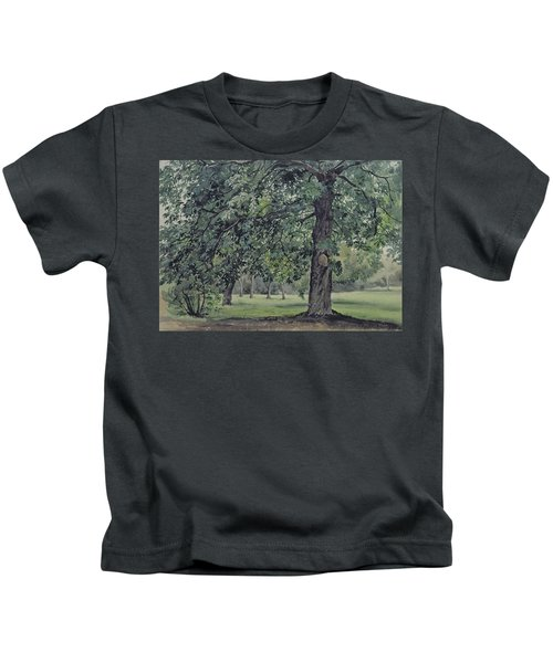 Landscape With Chestnut Tree In The Foreground Kids T-Shirt