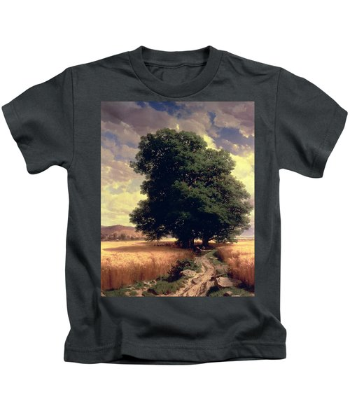 Landscape With Oaks Kids T-Shirt