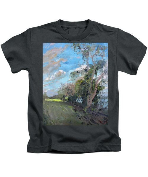 Late Afternoon By Niagara River Kids T-Shirt