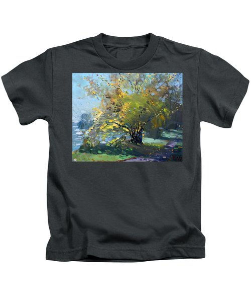 Late Afternoon By The River Kids T-Shirt