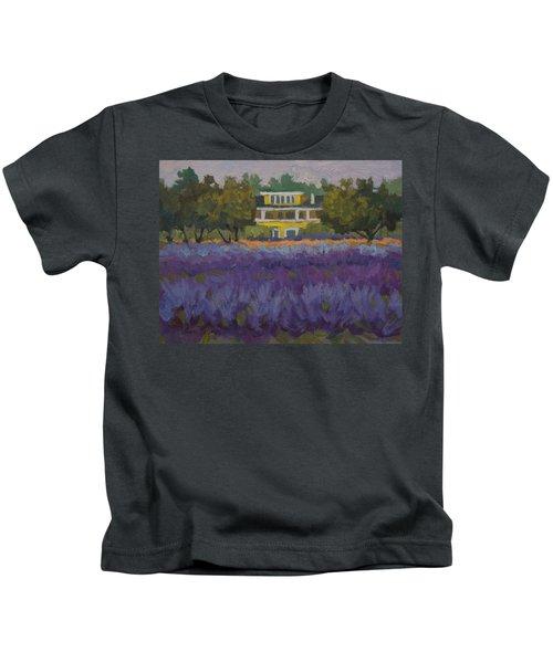 Lavender Farm On Vashon Island Kids T-Shirt