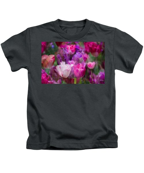 Layers Of Tulips Kids T-Shirt