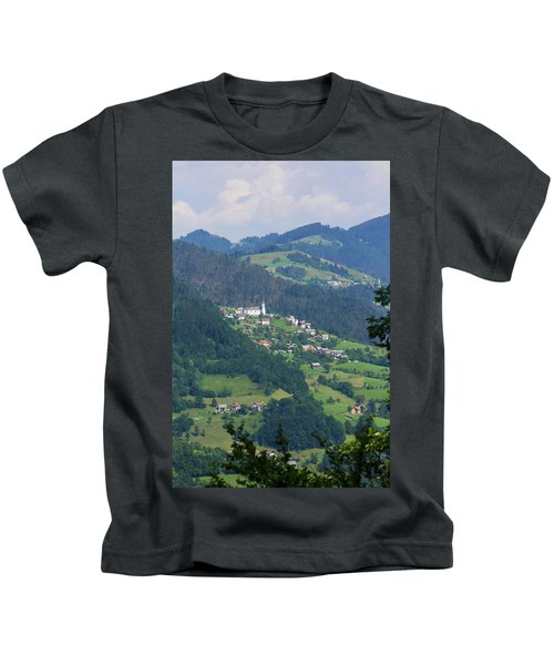 Lazec, Near Cerkno, Littoral Region Kids T-Shirt