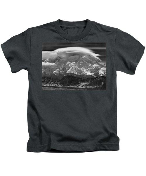 101366-lenticular Cloudcap Over Mt. Mckinley Kids T-Shirt