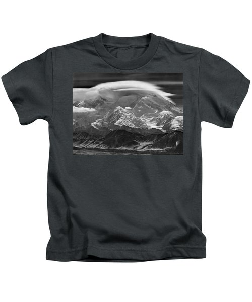 101366-lenticular Cloudcap Over Mt. Mckinley Kids T-Shirt