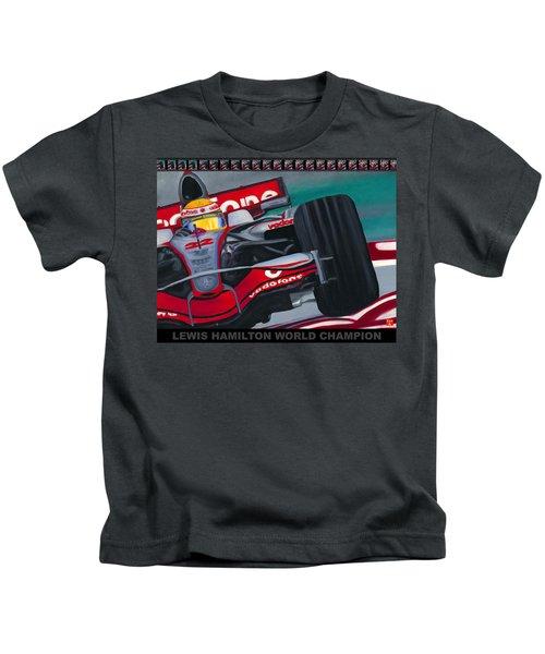Lewis Hamilton F1 World Champion Pop Kids T-Shirt