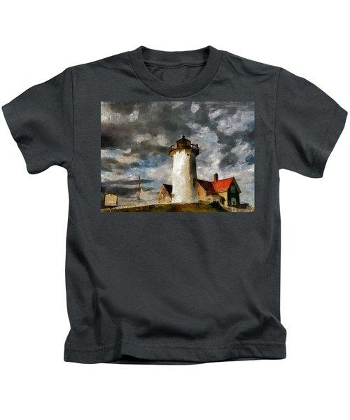 Light House In A Storm Kids T-Shirt