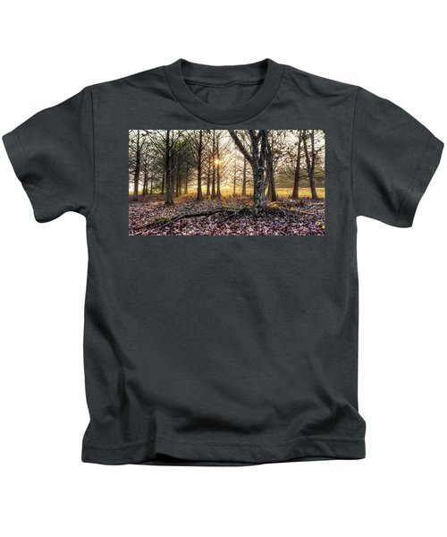 Light In The Trees Kids T-Shirt