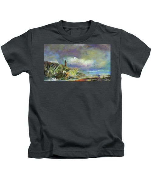 Lighthouse And Fisherman Kids T-Shirt