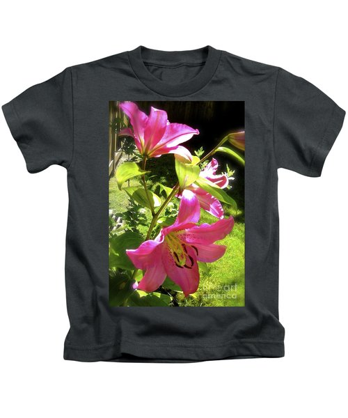 Lilies In The Garden Kids T-Shirt