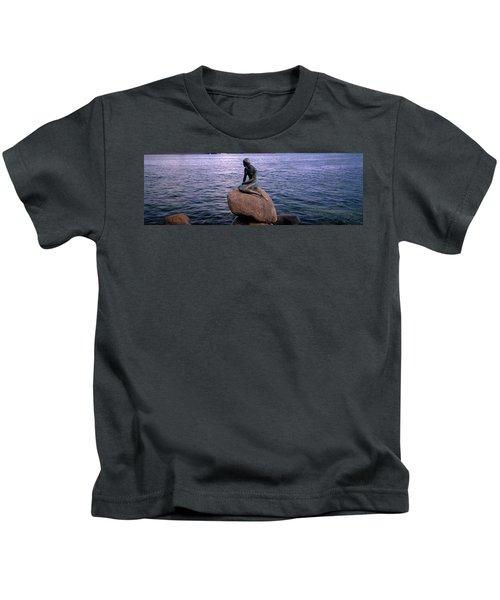 Little Mermaid Statue On Waterfront Kids T-Shirt