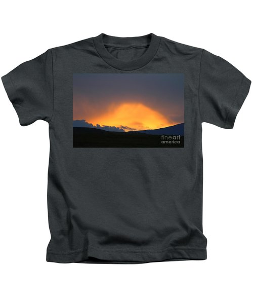 Livingstone Range Sunset Kids T-Shirt