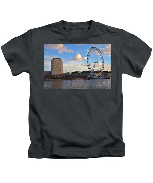 London Eye And Shell Building Kids T-Shirt