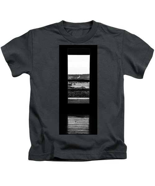 Looking Out A Country Door. Kids T-Shirt