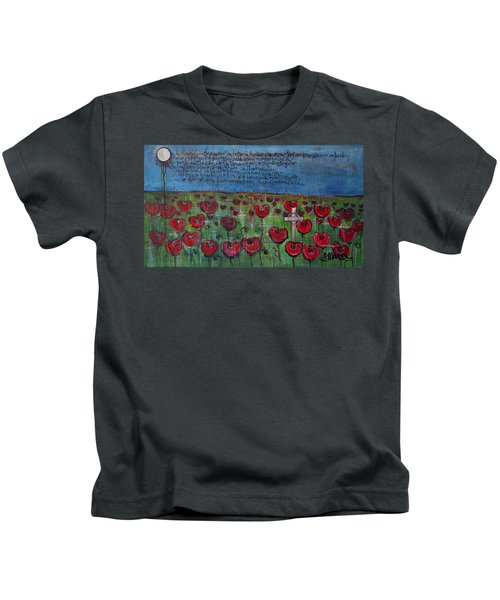 Love For Flanders Fields Poppies Kids T-Shirt