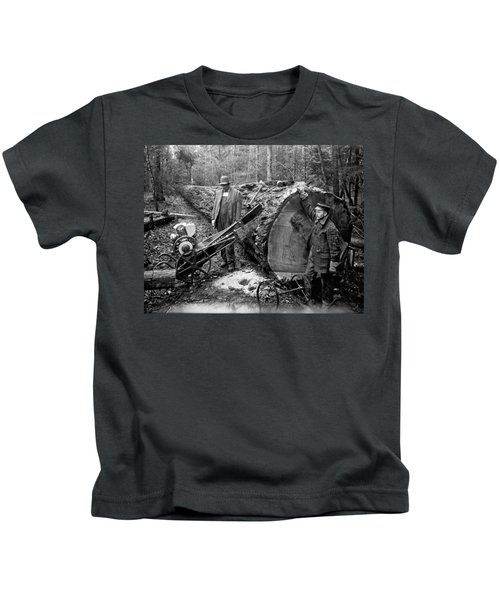 Lumberjack With Early Chainsaw Kids T-Shirt