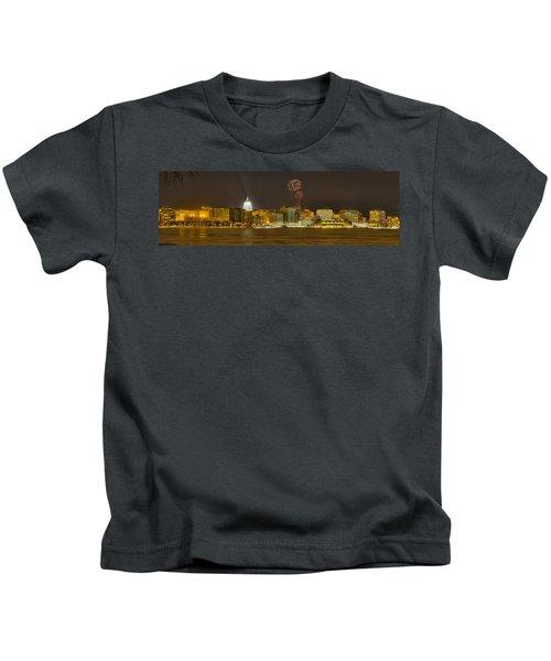 Madison Skyline New Years Eve Kids T-Shirt