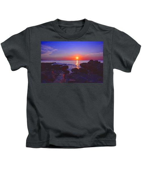 Maine Coast Sunrise Kids T-Shirt