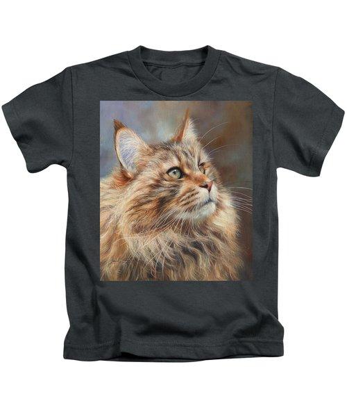 Maine Coon Cat Kids T-Shirt