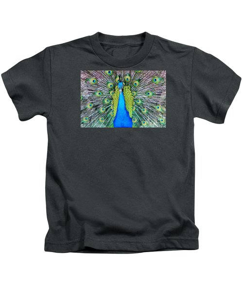 Male Peacock Kids T-Shirt