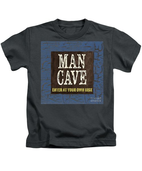 Man Cave Enter At Your Own Risk Kids T-Shirt
