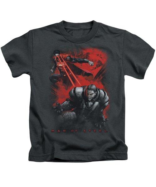Man Of Steel - Fire Fight Kids T-Shirt