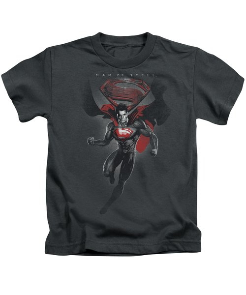 Man Of Steel - Mos Distressed Kids T-Shirt