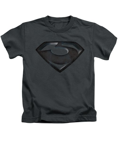 Man Of Steel - Zod Shield Kids T-Shirt