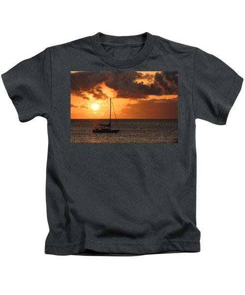Maui Sunset Kids T-Shirt