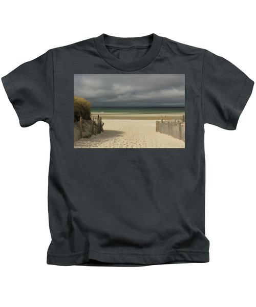 Mayflower Beach Storm Kids T-Shirt