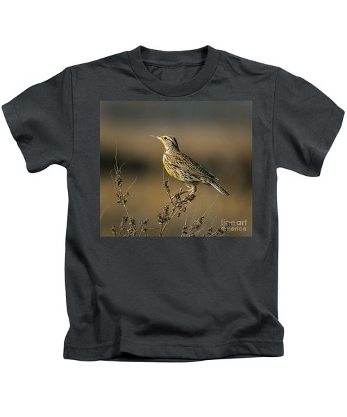Meadowlark On Weed Kids T-Shirt