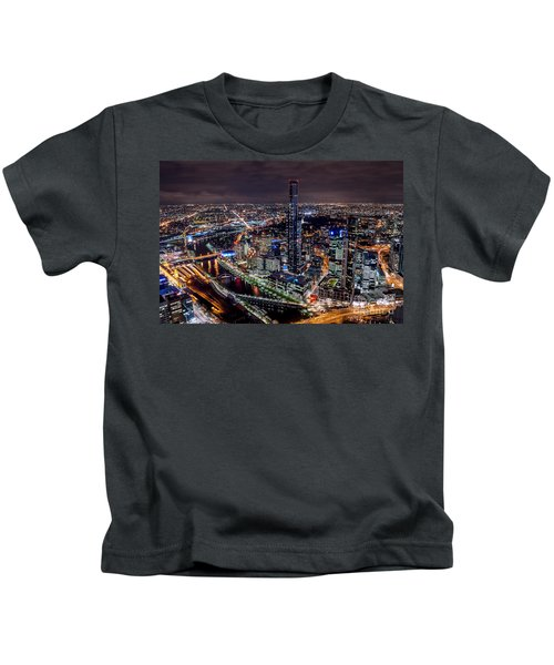 Melbourne At Night IIi Kids T-Shirt