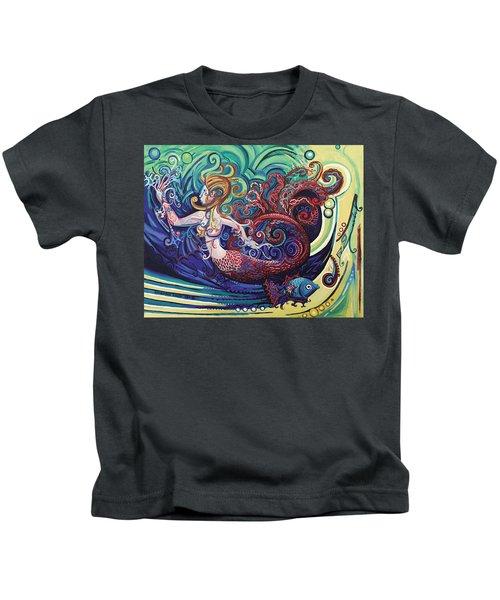 Mermaid Gargoyle Kids T-Shirt