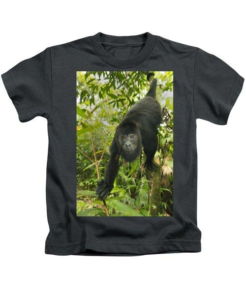 Mexican Black Howler Monkey Belize Kids T-Shirt